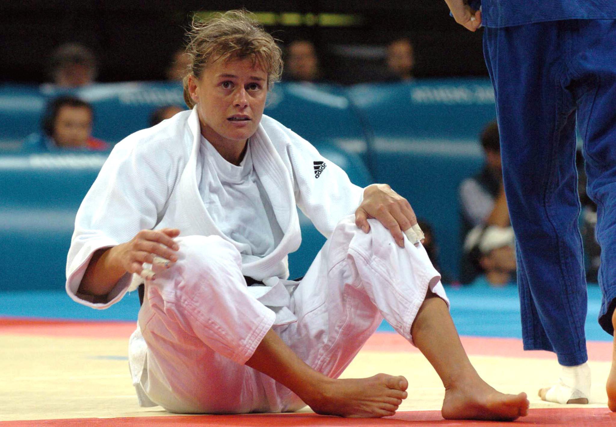 Gella op de Spelen van Atlanta in 2004 waar ze zilver haalde. (foto belga)