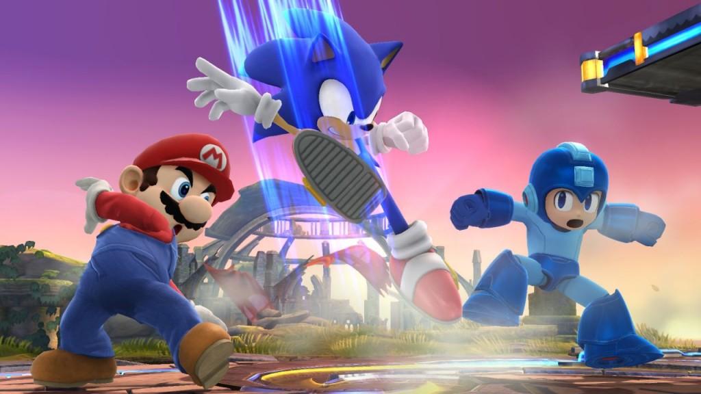 In de jaren 90 was er zware concurrentie tussen Mario en Sonic, maar nu houden de twee het bij een robbertje vechten in 'Smash Brothers'.