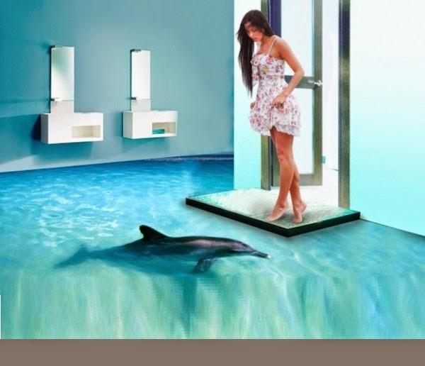 Het is eens iets anders 3d vloeren maken van je huis een for Bathroom scenes photos