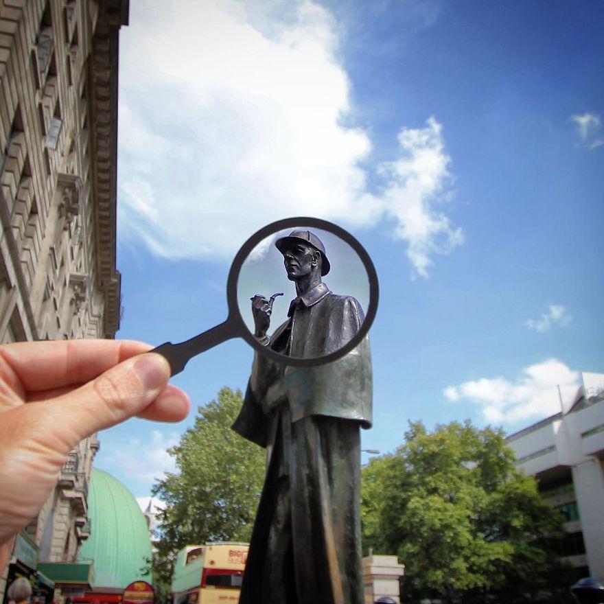 Sherlock Holmes standbeeld - Londen