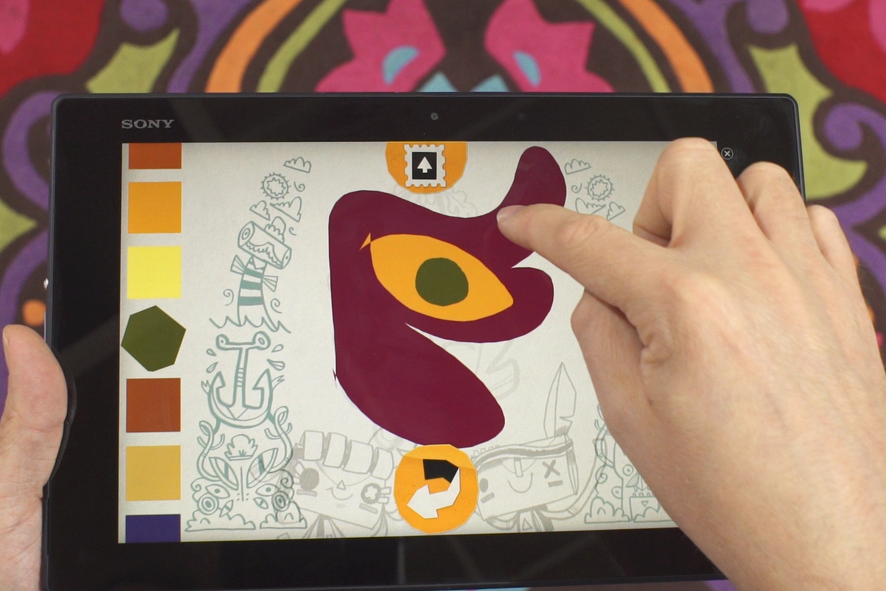 Je kan zelfs op je tablet tekenen en de creatie naar de game doorsturen.