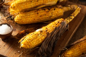 Grilled Corn on the Cob with Salt and Butter