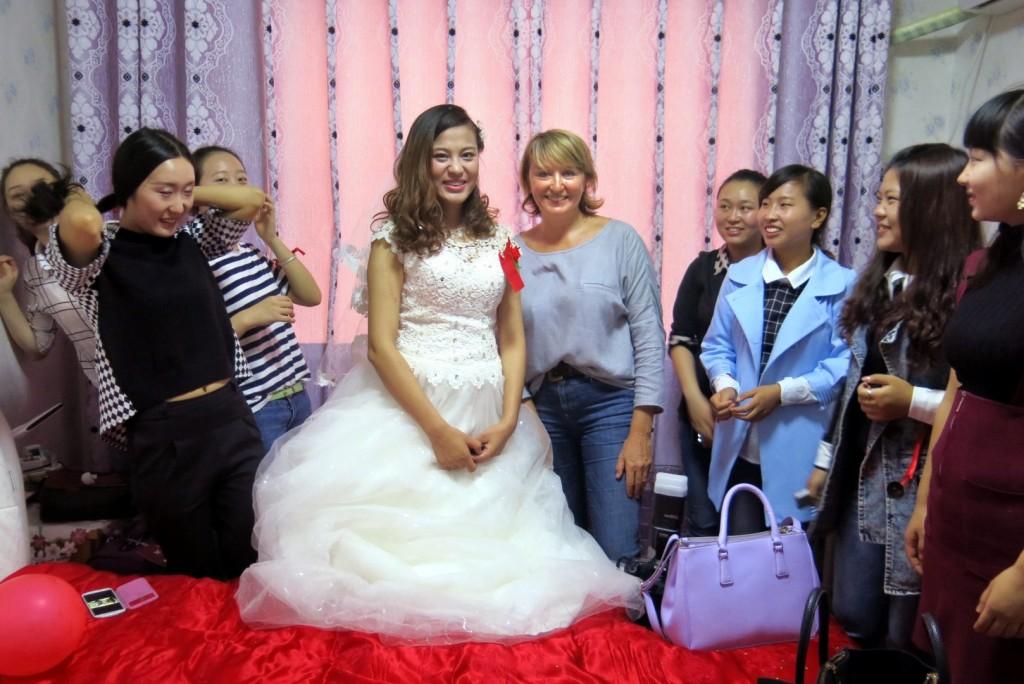 Lieve Blancquaert op een huwelijk in Nepal.
