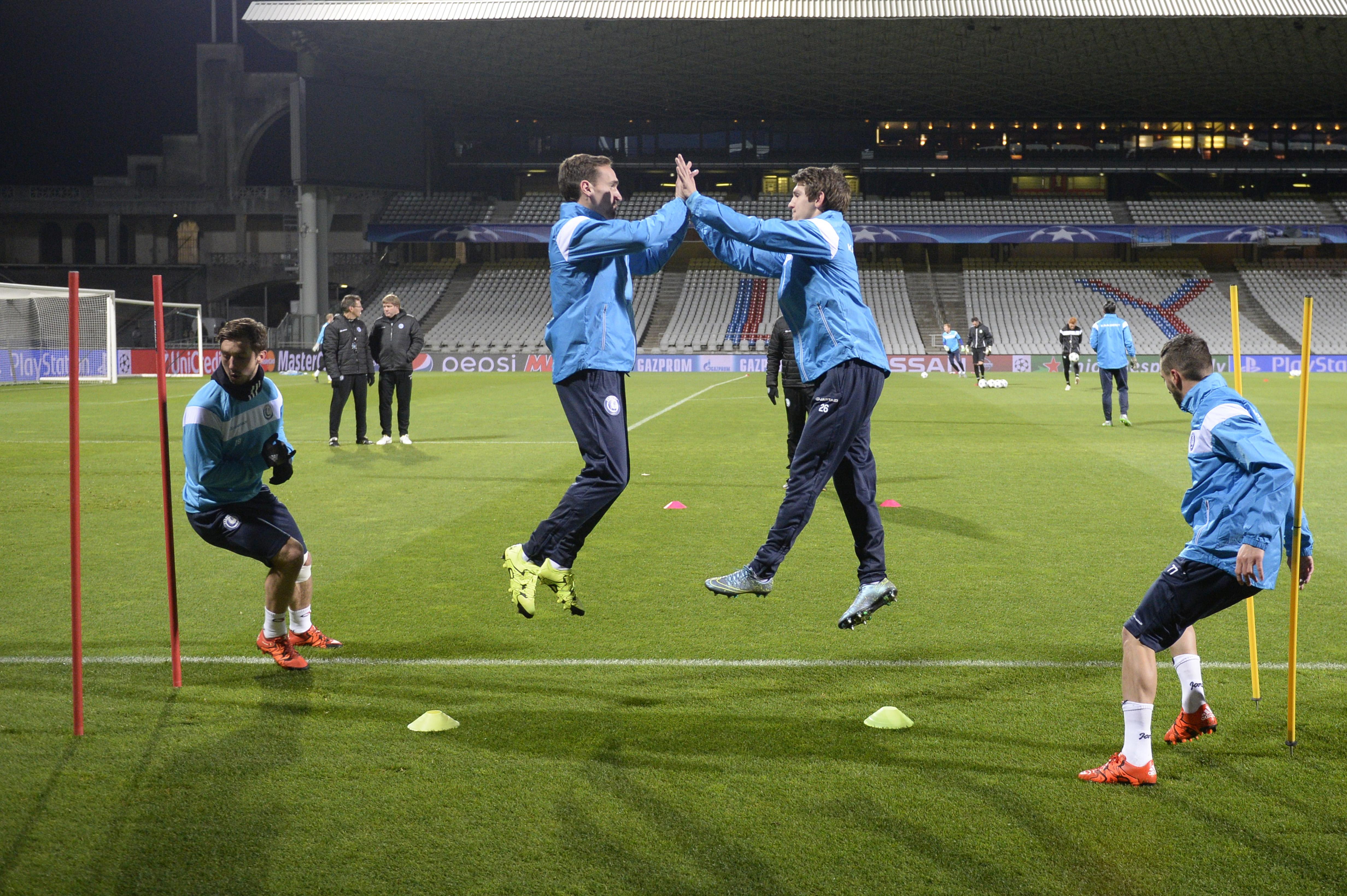 FRANCE SOCCER UEFA CHAMPIONS LEAGUE AA GENT TRAINING