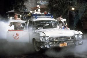 De Ectomobile van de Ghostbusters.