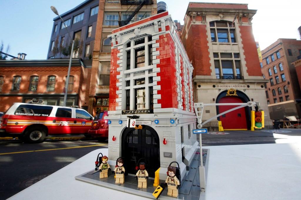 De Lego-set voor de echte Ghostbusters-kazerne in New York.