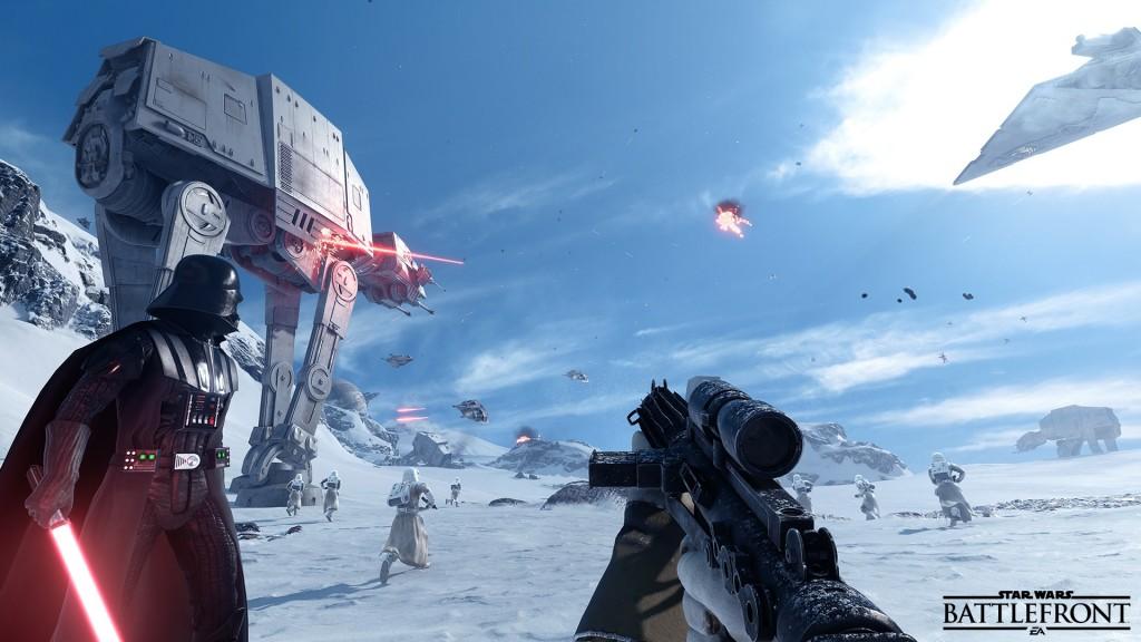 Darth Vader, een AT-AT tank en een leger stormtroopers: kan het cooler?