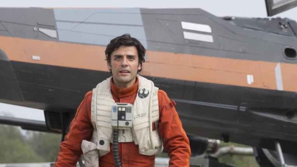 Piloot Poe Dameron steelt de show met zijn vliegkunsten.