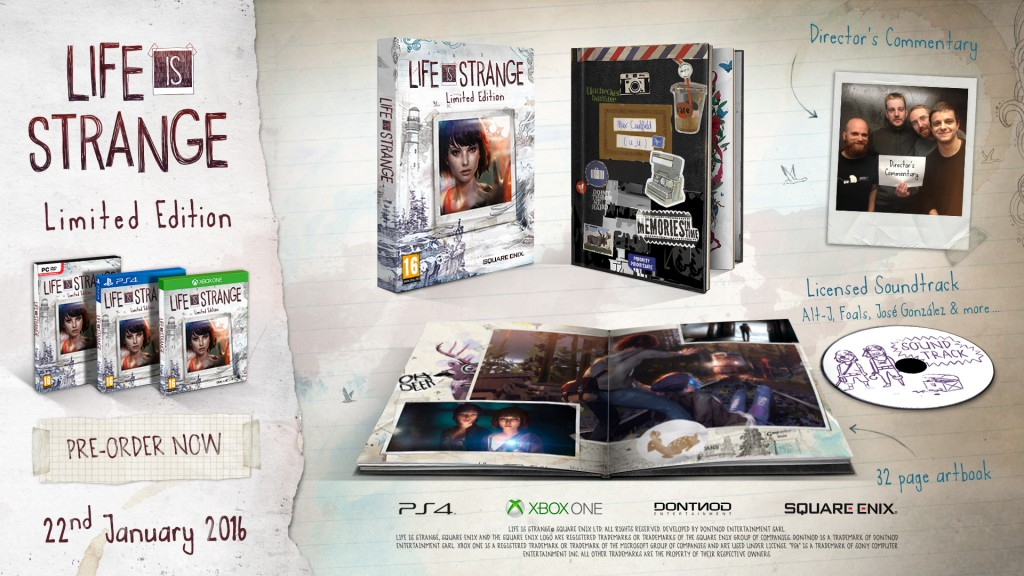 De limited edition, met soundtrack, artbook en commentaar van de ontwikkelaars.