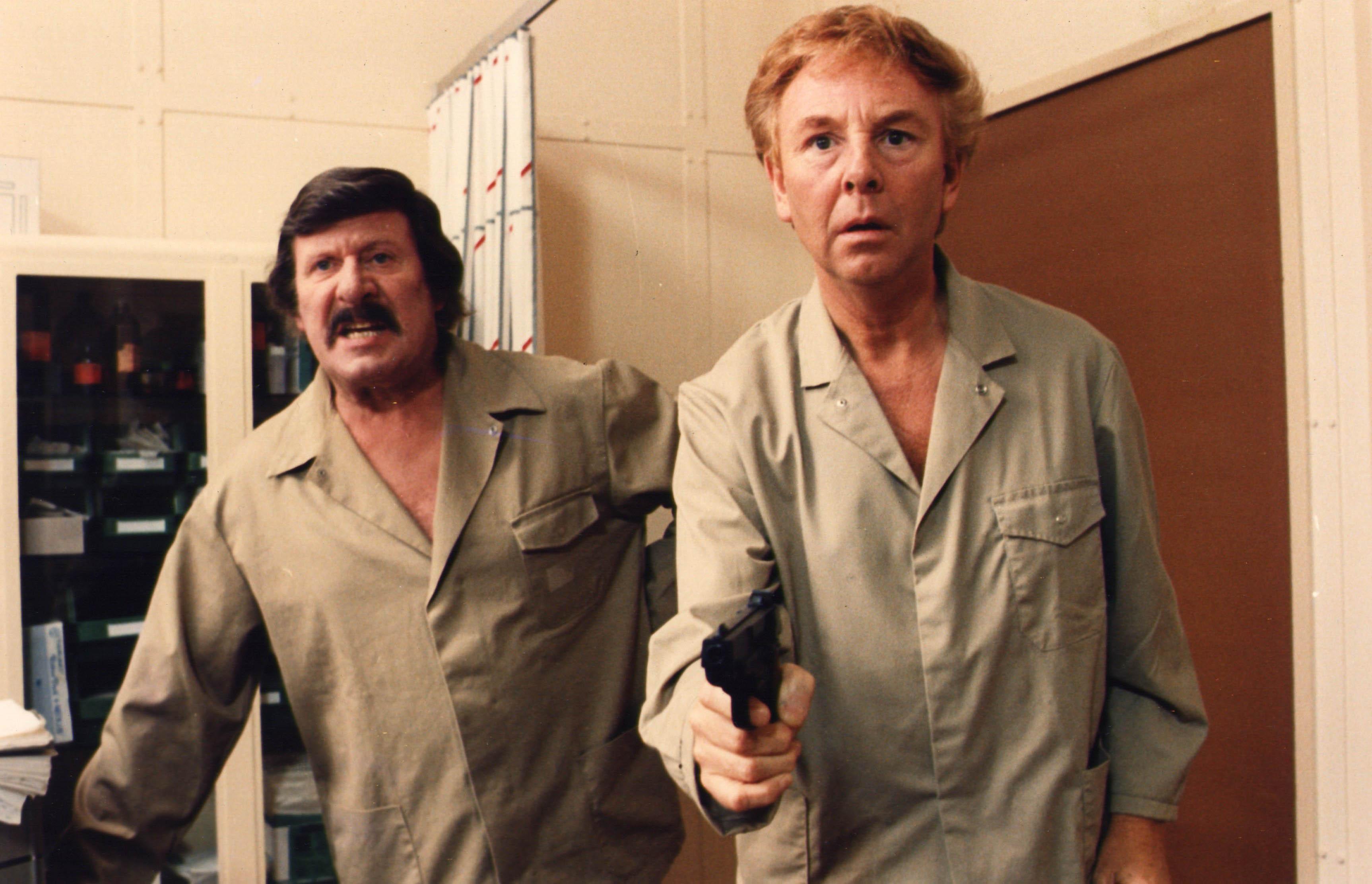 Leo Martin en Gaston Berghmans in Zware Jongens. (foto vtm)