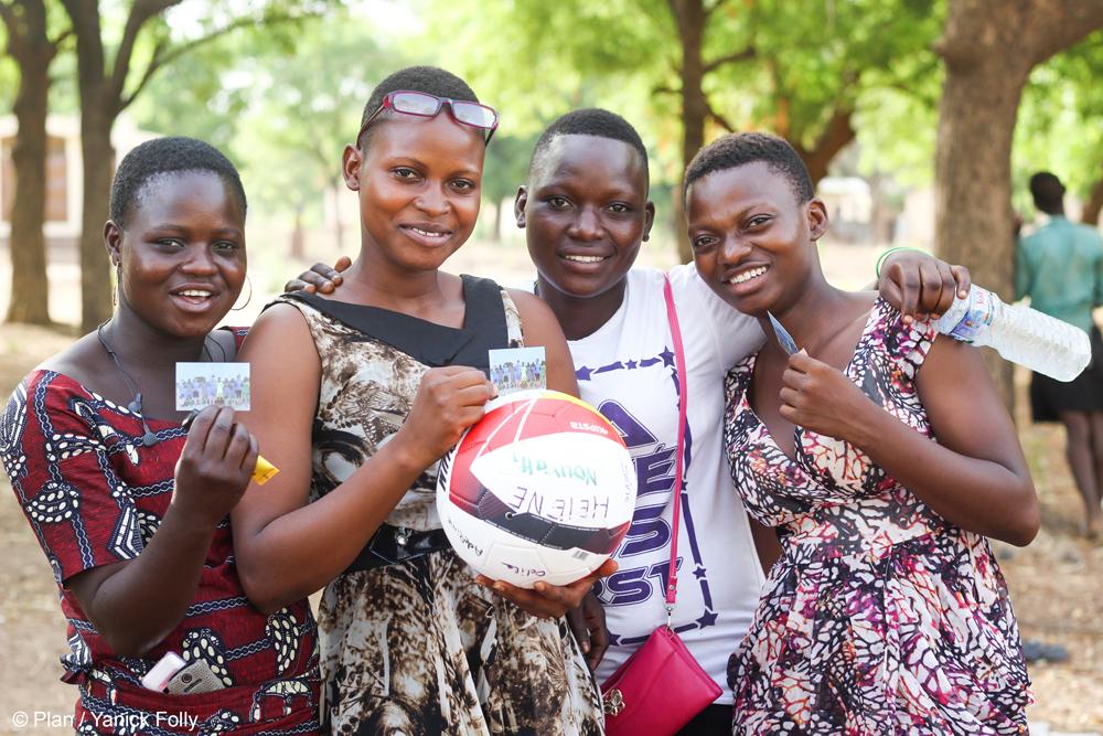 De meisjes die meedoen aan het project.