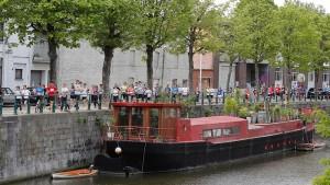 Lopen door de binnenstad van  Gent. (foto belga)