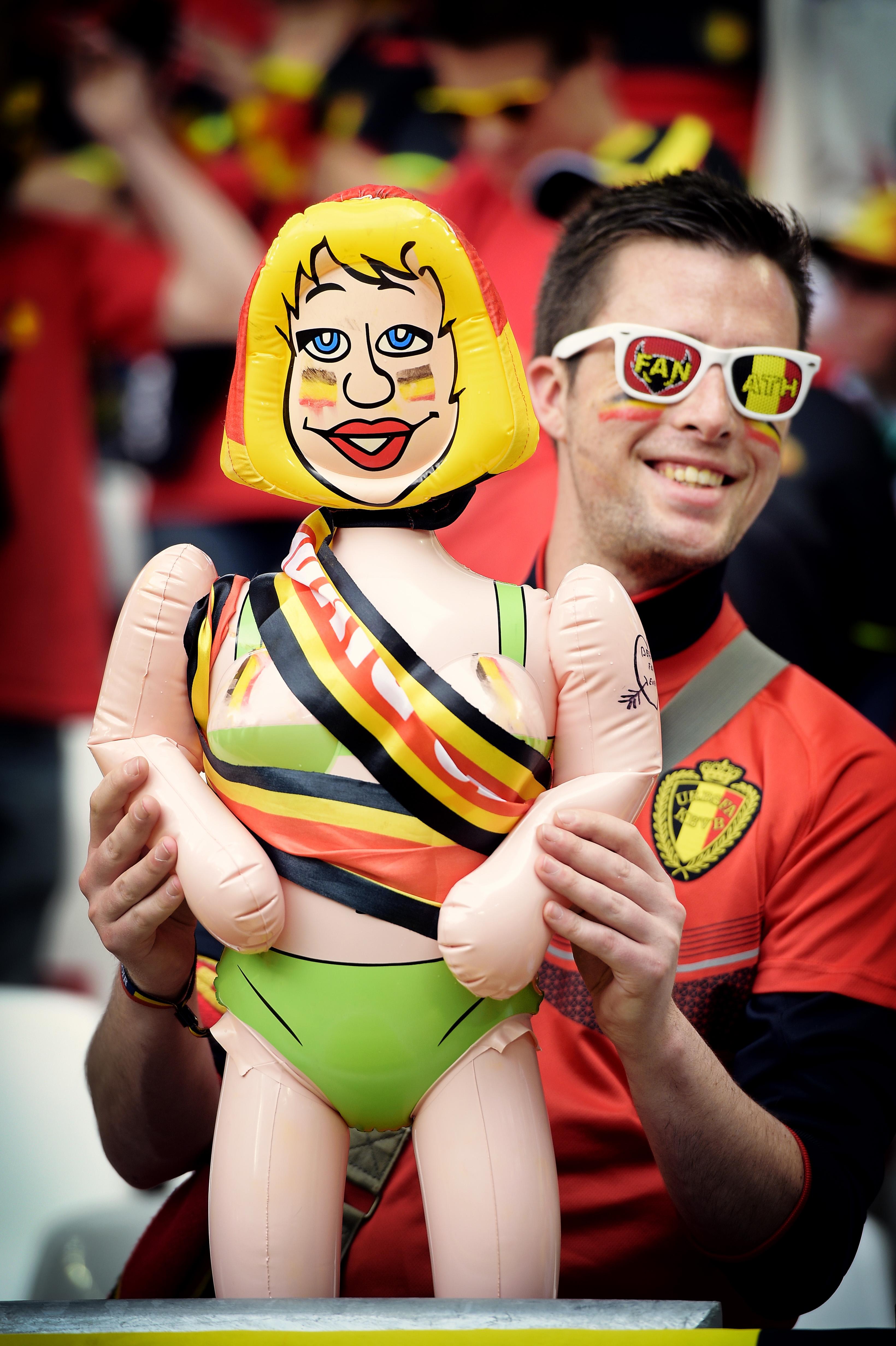 De Belgische supporters laten vijftien andere nationaliteiten achter zich. (foto belga)