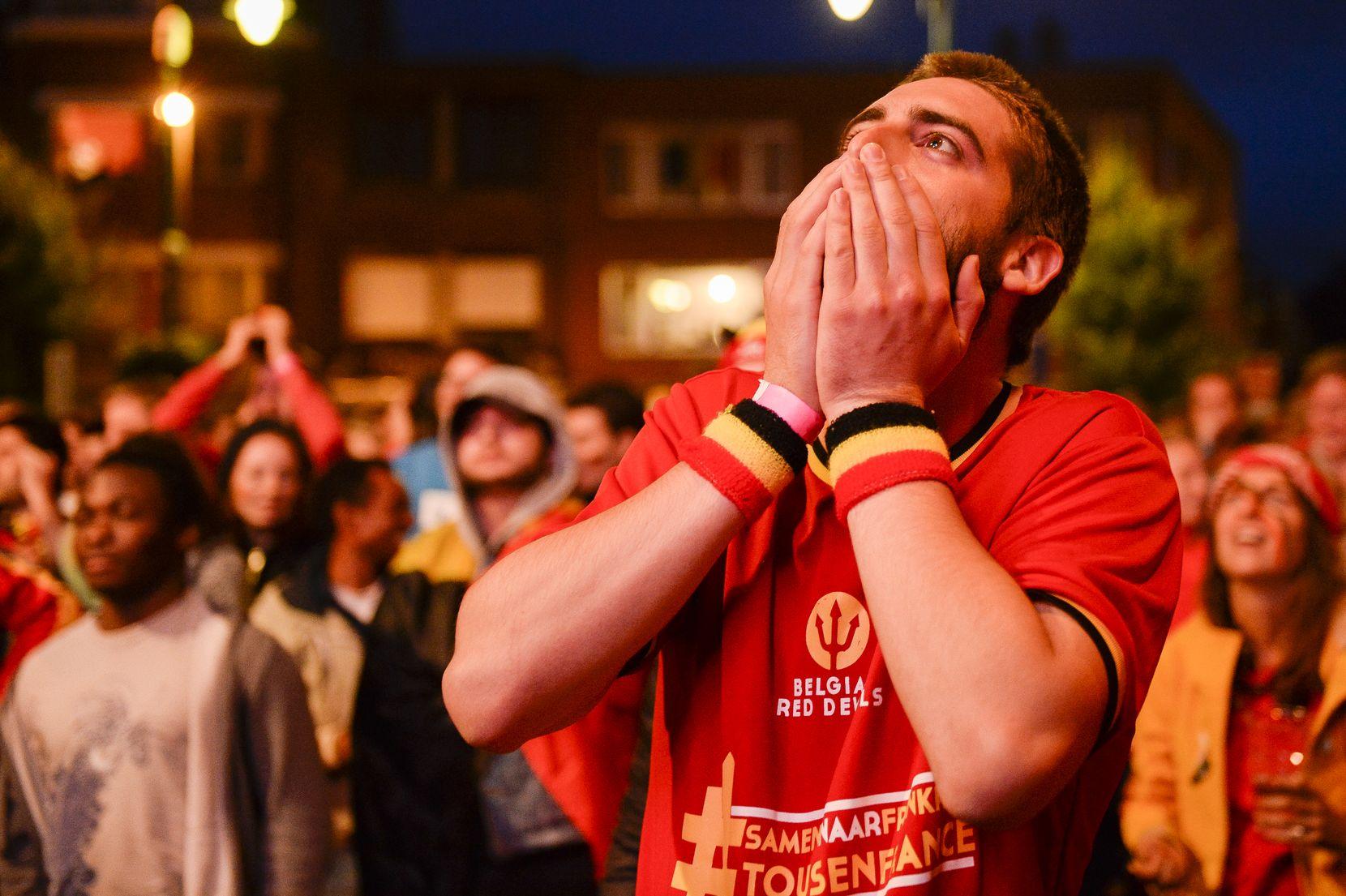 De ontgoocheling bij de supporters was enorm. (foto's belga)