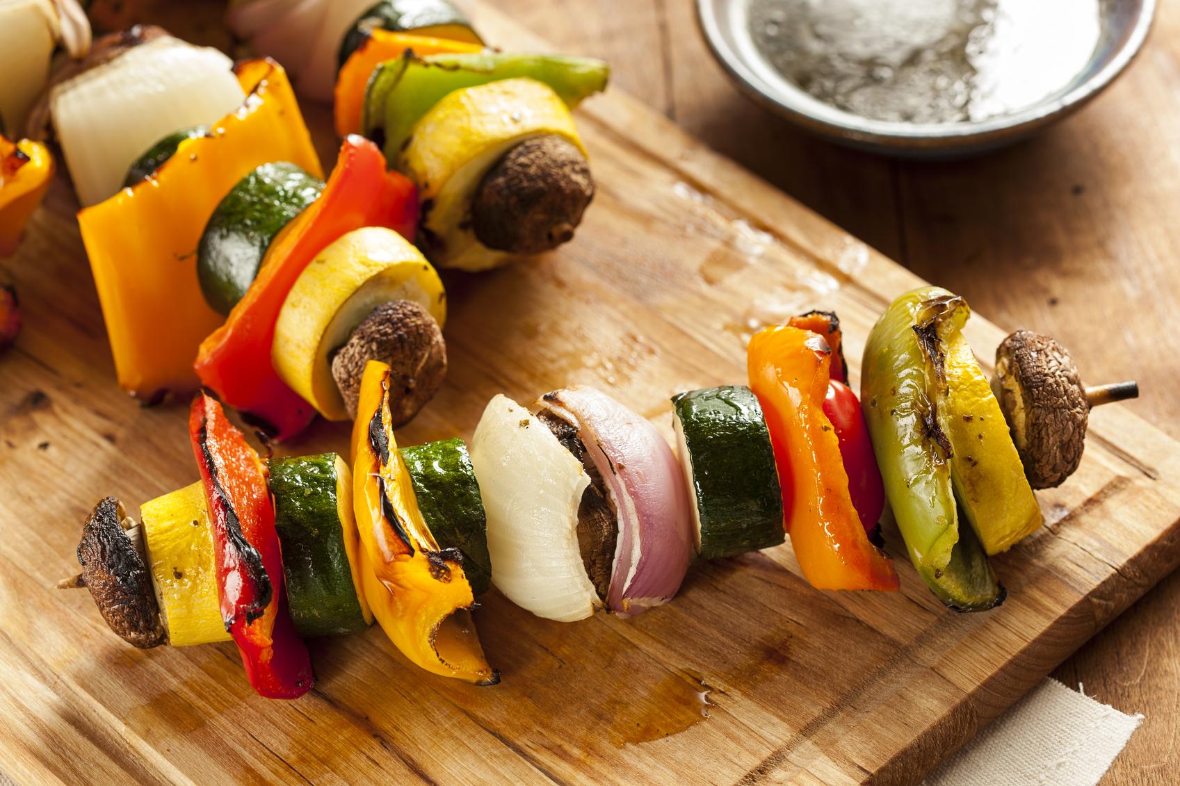 Organic Grilled Vegetable shish Kebab