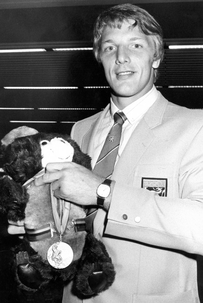19810114 - The picture presents the belgian judoka Robert van de Walle at the occasion of his appointment as sports man of the year. BELGA PHOTO ARCHIVES