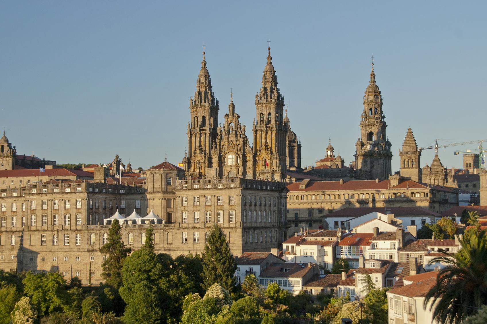 De befaamde St. James Cathedral in Santiago de Compostela. (foto istock)