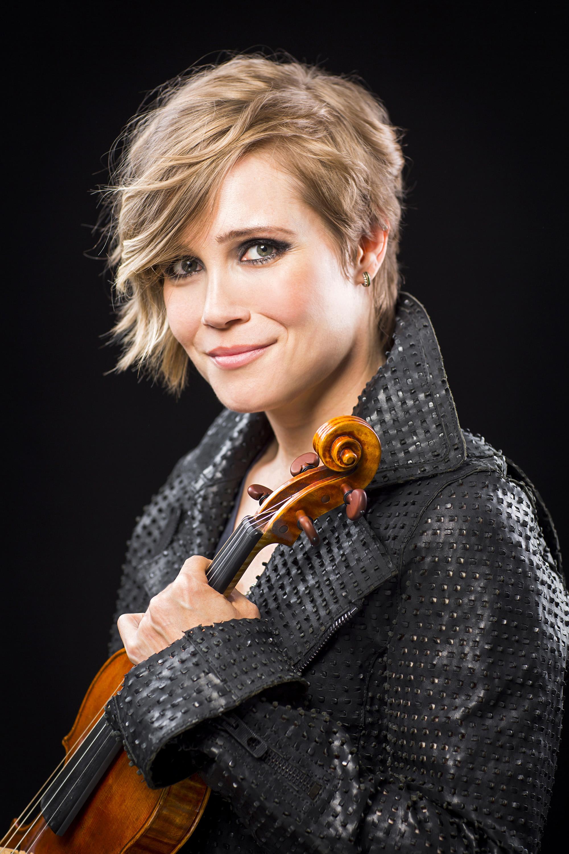 De fenomenale violiste Leila Josefowicz.