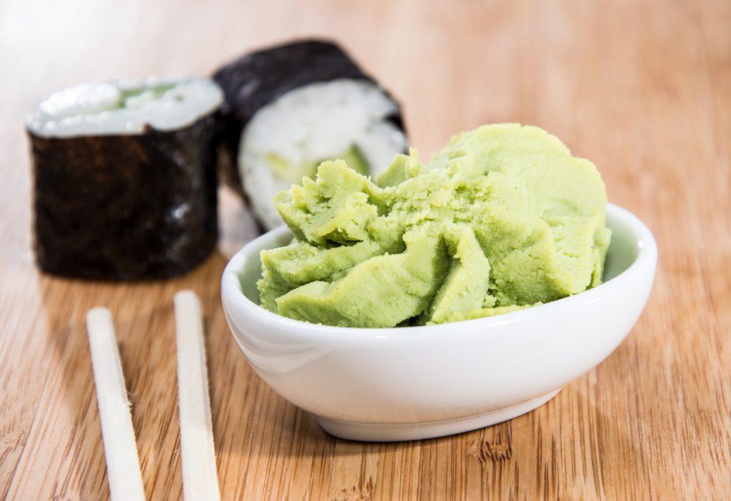 Maki rolls with Wasabi
