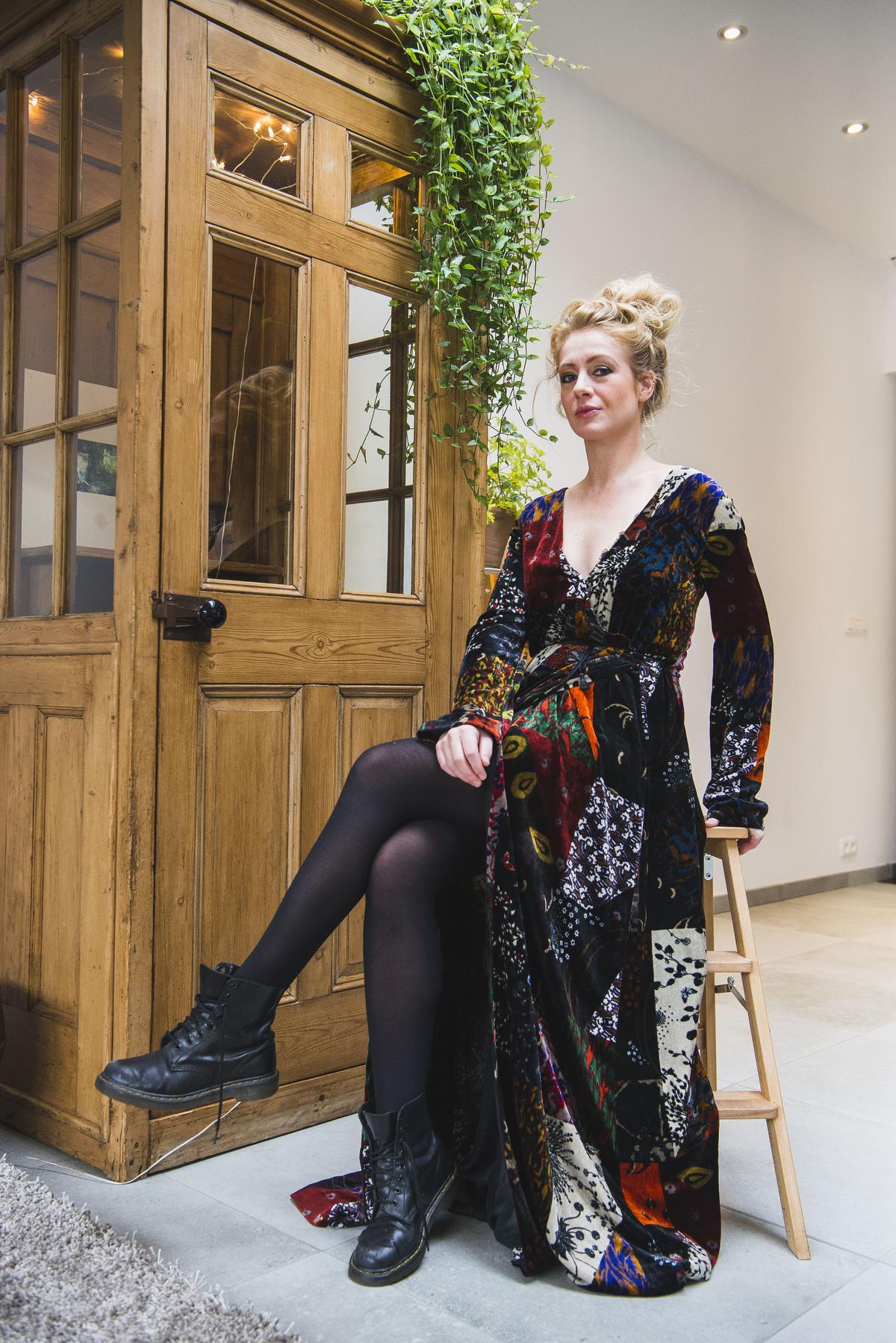 Mijn Chloé-kleed hielp me door moeilijke tijden. (foto Olaf Verhaeghe) ©Olaf Verhaeghe