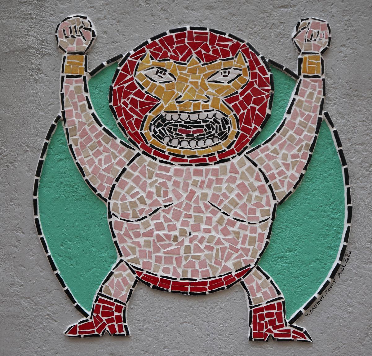 Wie goed kijkt, kan Mexicaans geïnspireerde kunst ontdekken op de gevels van Barcelonette. (foto SRA)