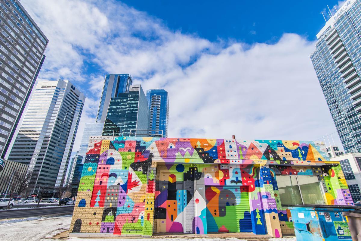 Street art in Edmonton: de ruwe arbeidersstad ontpopt zich meer en meer tot een paradijs voor toeristen. (foto SBedaux)©sbedaux