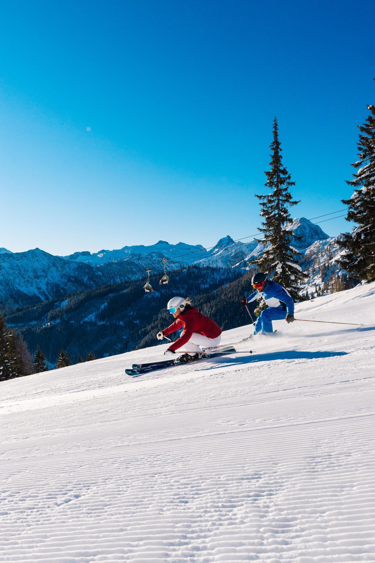 Hochkönig vormt samen met vier andere regio's Ski Amade. Samen goed voor 760 kilometer aan pistes. (gf)