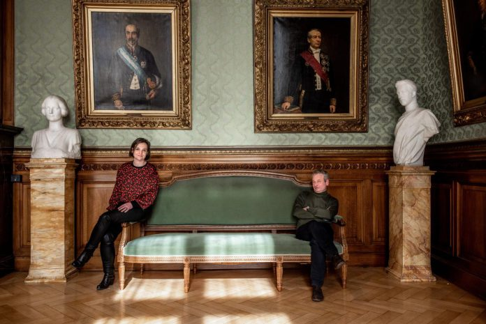 """Barbara Pas en Bart Maddens: """"CD&V wordt een cruciale actor in een mogelijke staatshervorming."""" (foto Christophe De Muynck)"""