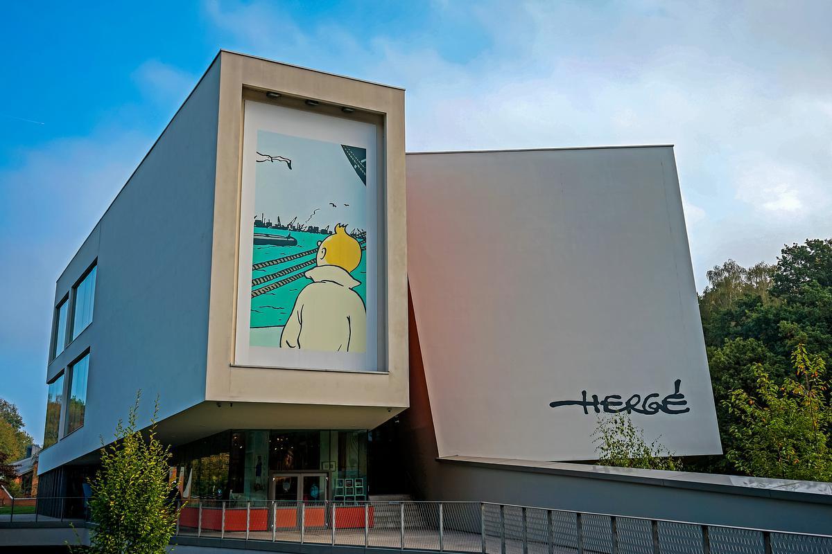 Een must: het Hergé Museum in Louvain-La-Neuve. (foto MTBW)