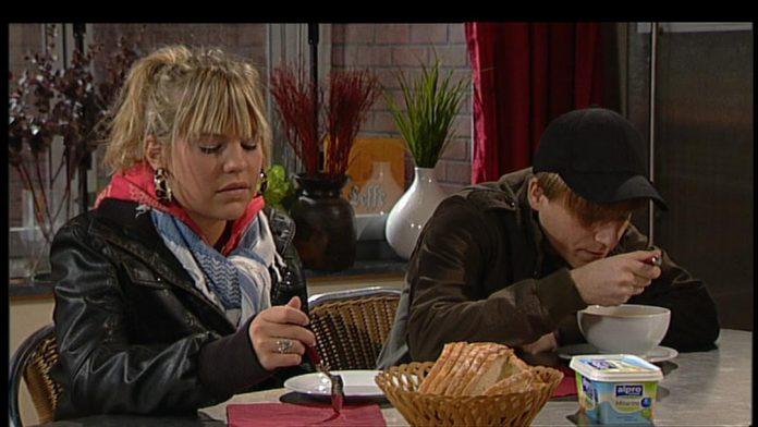 In 2007 leerde Vlaanderen Eline De Munck kennen als Amber Van Gistel in Thuis. Amber was het lief van Kasper, de pleegzoon van Rosa en Waldek. (foto Eén)